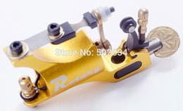 Wholesale Golden Liner - Wholesale- Freeshipping from USA warehouse Rotary Tattoo Machine Gun Shader&Liner Golden Allumium Alloy Tattoo Motor Gun Supply For Artists