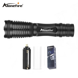 Wholesale Dive Flash Light - AloneFire E007 Powerful CREE XML T6 3800LM Zoom Flashlight Torch Zoomable Flash lights