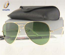 Wholesale Drive Sun Glasses - (17Colors) 58mm 62mm Mens & Womens Metal Pilot Sunglasses G15 Glass Lens Sun Glasses + Box, Case, Card