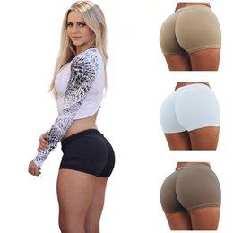 Wholesale Flat Wear Wholesale - 20pcs 2017 New Push Up Sexy Underwear Women Abundant Buttocks Hip High Waist Boxer Briefs Sports Fitness Pants Active Wear ZL3449