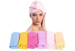 Wholesale Microfiber Absorbent Hair Towels - Microfiber Magic Hair Dry Drying Turban Wrap Towel Lady Long-haired Ultrafine Super Absorbent Fiber Hat Dry Hair Towel Cap ZA1528