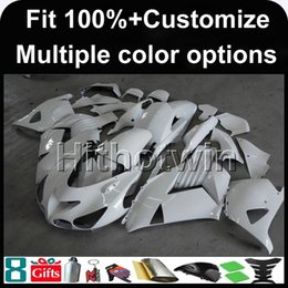 Wholesale White Zx14r - 23colors+8Gifts Injection mold WHITE motorcycle cowl for Kawasaki ZX-14R 06-12 2006 2012 ZX 14R 06 07 08 09 10 11 12 ABS Plastic Fairing
