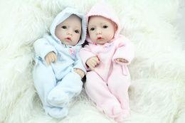 Wholesale Wholesale Reborn Baby Dolls - 10 Inch Mini Reborn Babies Fashion Doll Handmade Newborn Baby Toys Realistic Finished Doll For Kids Birthday Xmas Gift free DHL