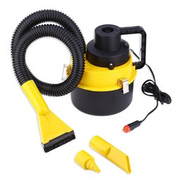 Wholesale vacuum cleaner power - Wholesale- Car Cleaner 12V Large Capacity Air Inflation Three Sucker ABS Plastic 3m Power Line length 93 - 120W Power Absorb Dust 2016 New