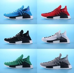 Wholesale Yellow Summer Fabrics - Sales Promotion NMD HUMAN RACE Pharrell Williams X NMD Runner Shoes man & women New Arrivals Summer Autumn Sneakers