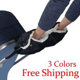 Wholesale Hand Muffs - Wholesale- Baby stroller accessories winter waterproof anti-freeze pram hand muff baby carriage glove by clutch cart muff glove