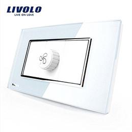 Wholesale Glass Sockets - LS-US AU Standard Livolo Luxury White Pearl Crystal Glass Speed Socket(Fan Socket) VL-C391S-81