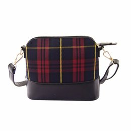 Wholesale Wholesale Patchwork Leather Handbags - Wholesale- New brand clutch Women's Crossbody Bags Hobo Satchel patchwork plaid leather handbags women Shoulder bag