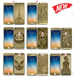 Wholesale Eiffel Iphone - 2.5D Curved Electroplate Tempered Full Body Glass Front Color Screen protector Paris Eiffel Tower Diamond For Iphone 6 6S Plus 4.7 5.5 Skin