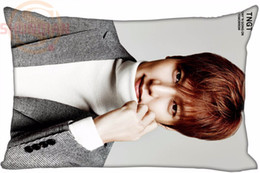 Wholesale hot pink throw pillows - Wholesale- Hot Star Lee Min Ho Actor Pillowcase Cool Soft Throw Pillow Cases-35X45cm one side