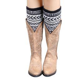 Wholesale Jacquard Knitted Legging - Wholesale-Creative Luxury 1 Pair Women Jacquard Knitted Leg Warmers Socks Boot Cover Socks Women meias