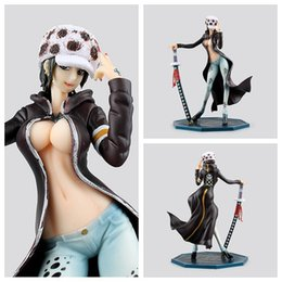 Wholesale Toys Pvc Sexy - Figurine Trafalgar L Girl Ver PVC Figure 220 mm POP One Piece Lady Right Death Doctor Sexy Anime Toys Fig