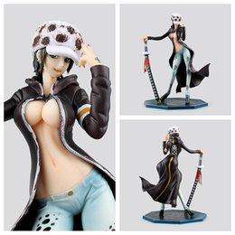 Wholesale One Piece Trafalgar - Figurine Trafalgar L Girl Ver PVC Figure 220 mm POP One Piece Lady Right Death Doctor Sexy Anime Toys Fig