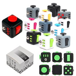 Wholesale Popular Science - 2017 New Popular Decompression Toys Fidget Cube the world's first American Decompression Anxiety EDC Desk Toy with Retail Box DHL