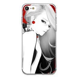 Wholesale Transparent Beauty Cases - Shaka Laka black and white Phone Shell Clear Soft TPU fashion beauty Case For iPhone 6 6S 5.0in 6Plus 7 7plus 8 8s plus silicone back Cover