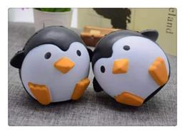 Kawai squishy online-Kawai Squishy pinguini antartici Jumbo Squishy Ciondolo lento in aumento Cinghie per cellulare Charms Queeze Giocattoli per bambini Cute squishies Pane