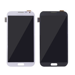 Wholesale Digitizer For Galaxy Note - For Samsung Galaxy note2 LCD Display Digitizer Touch Screen assembly n7100 N7102 5.5 inch Gray White best quality Free Shipping