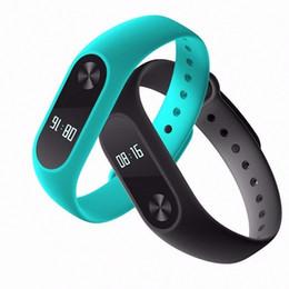 Wholesale Orange Rates - DHL free shipping original Bluetooth4.0 Waterproof IP67 MiBand2 Wristband Bracelet Smart Heart Rate Monitor Fitness Tracker OLED Touchpad