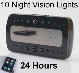 Wholesale Digital Clock Spy Cam - Best IR Night Vision Hidden Clock Spy Camera 1080P Full HD Digital Alarm Clock Video Recorder DVR with Motion Detection Nanny Security Cam