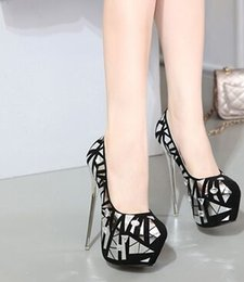 Wholesale Sweet Pumps - New Arrival Hot Sale Specials Sweet Girl Good Quality Sexy Fine Noble Nightclub Stage Show Thin Diamond Single Black Heels Shoes EU34-40