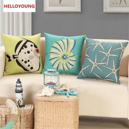 Wholesale Marine Supplies - BZ125 Luxury Cushion Cover Pillow Case Home Textiles supplies Marine life decorative throw pillows chair seat