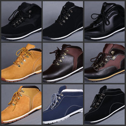 Wholesale White Heels For Cheap - Cheap Winter Snow Boot Classic Waterproof Outdoor Work Boots Fashion Tims Leather Hiking Shoes Leisure Ankle Boots For Men