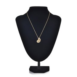 Wholesale Kc Gold Plating - 2017 luxury KC gold conch pendant necklace silver plated long clavicle chain Necklace for Women Statement Jewelry wholesale Free shipping
