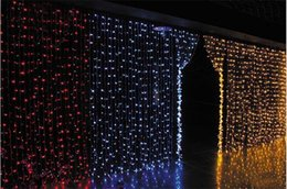 Wholesale Large Christmas Net Lighting - 1.5*1.5 m pink Purple led net lighting large-size Christmas lights outdoor hanging lights lawn nets 120led