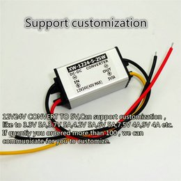 Wholesale Dc Step Down 5v - free shipping 12V24V to 3.3V 3.7V 4.2V 5V 6V 7.5V 9V 5A power converter DC-DC step-down power adaper