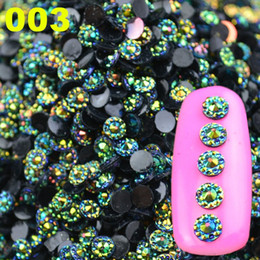 Wholesale Rhinestone Gems 4mm - Wholesale-2016 New Arrival Mysterious 4mm 3D Glitter AB Round Shape Acrylic Rhinestone Nail Art Decoration Phone Gems Wheel Tips