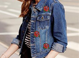 diy rose cloth Coupons - 10PCS Cool Red Rose Flower Embroidery Applique Cloth DIY Sewing & Iron on Patch Badge