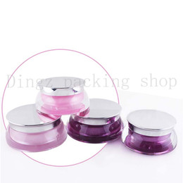 Wholesale glass cosmetic jar 15g - 20Pcs 15g Portable Plastic Cosmetic Empty Jar Pot Box Makeup Nail Art Cosmetic Bead Storage Container Round Bottle
