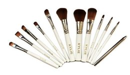 Wholesale Professional Brush White - Kylie Makeup Brushes set 12pcs Professional Brands Make Up Foundation Powder Beauty Tools Cosmetic Brush Kits with Retail Box