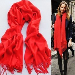 Wholesale Winter Infinity Scarfs Wholesale - Winter Scarf Man And Women Brand Big Size Scarves Pashmina Infinity Tassel Scarf Women Thick Shawls 40 colors 70x170cm