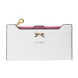 Wholesale Thin Ladies Purses - Wholesale- Fashion Wallet Female Carteira Feminina Lady Women Purse Long Zip Wallets PU Thin Card Holders Purse Women Portefeuille Femme