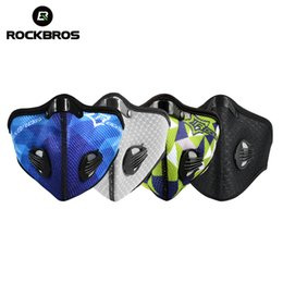 Wholesale Warm Activated Carbon Mask - Wholesale- Rockbros Skiing Warmer Masks Snowboard Cotton Hood Anti-Pollution Activated Carbon Air Filter Outdoor Sports Cycing Breathable