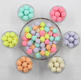 Wholesale Acrylic Flower Beads 14mm - 500g pack Candy Colors Rose Flower Beads DIY Jewelry Accessories 14mm Flower Beads Good Quality Accessories