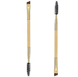 Wholesale Wholesale Shifter - NEW Tarte Shape Shifter Double-Ended Bamboo Brow Brush Professional Makeup tools eyebrow brush + eyebrow comb make up brush