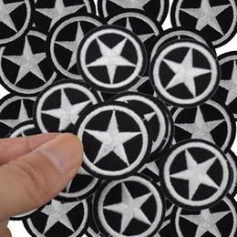 costurar manchas de estrelas Desconto Diy Estrela patches para roupas de ferro em patch bordado applique ferro em remendos acessórios de costura crachá adesivos para saco de sapatos