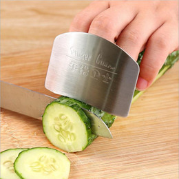 Wholesale Metal Guard - Finger Guard Protect Finger Hand Not To Hurt Cut Stainless Steel Hand Protector Knife Cutting Finger Protection Tools