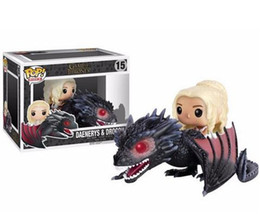 Wholesale Dragon 11 - 20151031 Anime Game Of Thrones Funko POP of Dragon & Daenerys Rides Dragon Action Figures Children gift hot sell