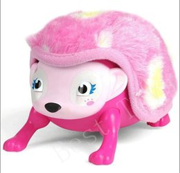 Wholesale Kids Pets Toys - Interactive Pet Hedgehog Plush Interactive Hedgehog Toy with Comb Electronic Plush Toys with Lights Sounds Sensors for Kids