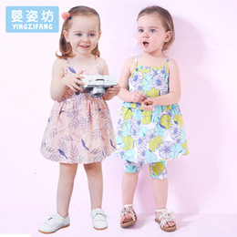 Wholesale Vestido Flower Baby - Yingzifang 2017 Girls Baby Summer Dress Casual Print Flowers Floral Dresses Cotton Cotto Vestido Kids Clothes
