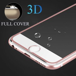 Wholesale Iphone Titanium Cover - 9H 3D Titanium Alloy Metal Frame Curved Full Cover Tempered Glass Screen Protector Guard Film for IPhone 8 8 plus 7 6s 6 Plus
