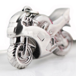 Wholesale Model Motorbikes - Wholesale 10pcs lot Classic 3D Simulation Model Motorcycle Motorbike Keychain Key Chain Ring Keyring Keyfob