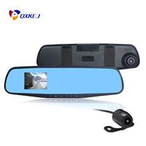 "Wholesale Video Camera Mirror - Full HD 1080P Car Dvr Mirror Dual Camera 4.3"" Dash Cam Recorder Rearview Cameras Parking Rear View Dual Lens Video Camcorder"