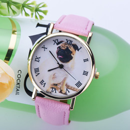 Wholesale Luxury Watches For Kids - Cute puppy Design children kids boys girls watches cartoon animals Luxury PU leather quartz casual wristwatches watch gifts for boys girls