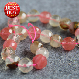 Wholesale Tourmaline Beads Necklace - New For Necklace&Bracelet Accessories 14mm Multicolor pink Watermelon Tourmaline Jasper beads Loose jade Beads diy beads Jewelry