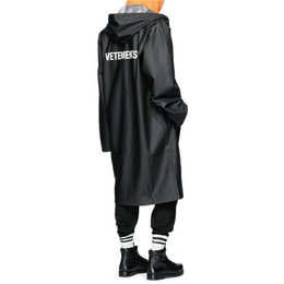 Wholesale Rain Patterns - VETEMENTS POLIZEI OVERSIZED KANYE WEST Jacket Big Bang Extended Rain Coat Men Women Windbreaker Trench Waterproof Sup Jacket Coats