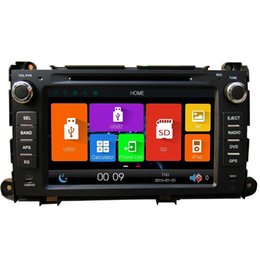 Wholesale Sienna Radio - 2Din 8inch High definition TFT LCD Digital capacitive Touch Screen car DVD player car navigation radio DVD GPS for TOYOTA Sienna 2010-2014
